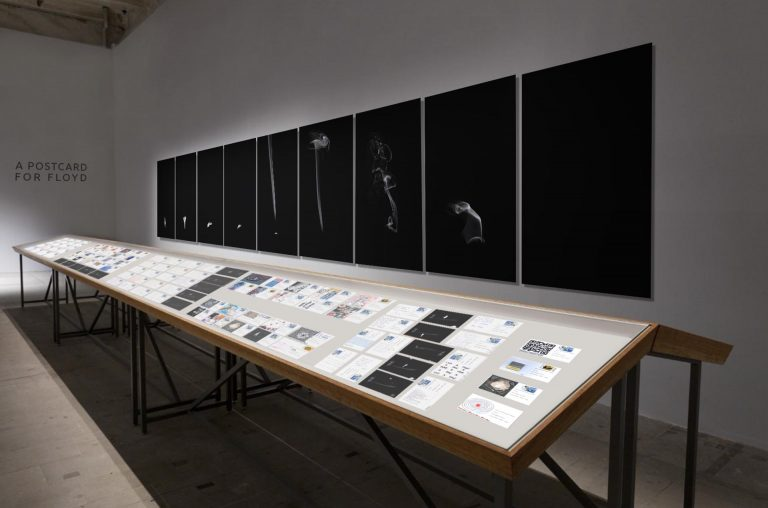 A postcard for Floyd - installation view